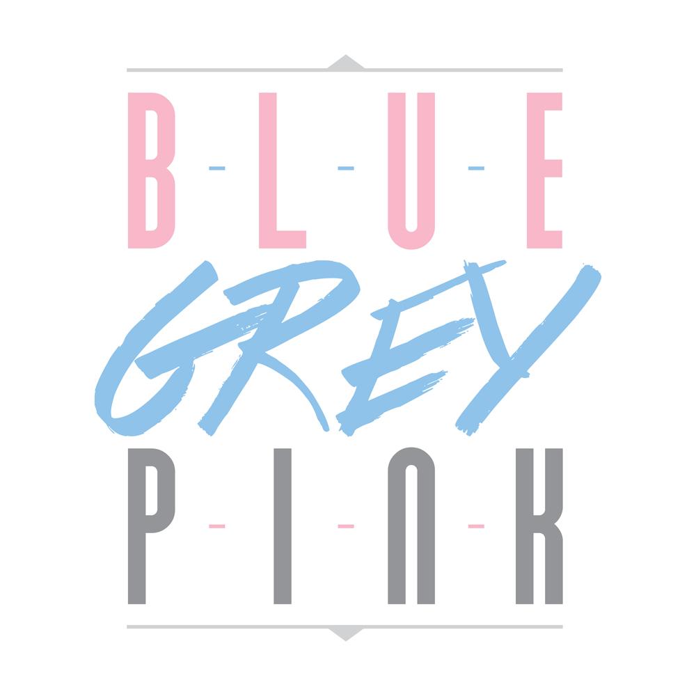 Blue Grey Pink